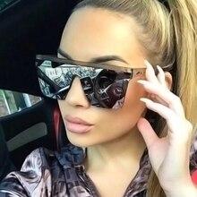 Vintage Oversized Square Sunglasses Women Luxury Brand Fashi