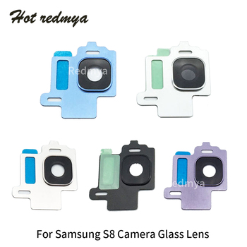 100pcs For Samsung Galaxy S8 G950 S8 Plus G955 Rear Back Camera Glass Lens Cover with Frame Holder Replacement Repair Parts