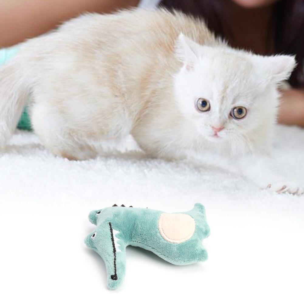 Тренинг Собаки ловкость игрушки Поставки Забавный Кот игрушка, прекрасная маленькая белая игрушка плюшевая зверушка-мята Дразнилка для котенка играть интерактивная игрушка-3