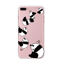 For IPhone 8 6 6S 7 Plus 5 Capa Fundas Back Cover Lovely Cute cartoon Panda Bear bike Heart Love Cover TPU soft Phone Case Cover(China)