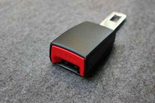 Clip de inserción extensor de alarma de hebilla de cinturón de seguridad negro Universal