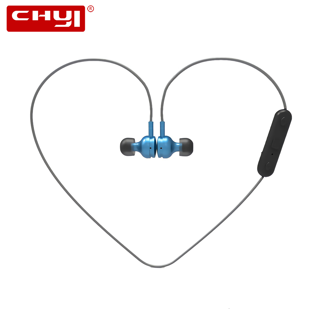 CHYI Bluetooth Wireless Magnetic Sport Headphones 3d Stereo In Ear Earphones With Microphone Music Earbuds For Iphone Smartphone