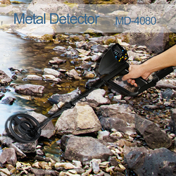 MD-4080 detector de metais profissional detectores de ouro subterrâneo display lcd modo de som tesouro caçador rastreador localizador sensibilidade