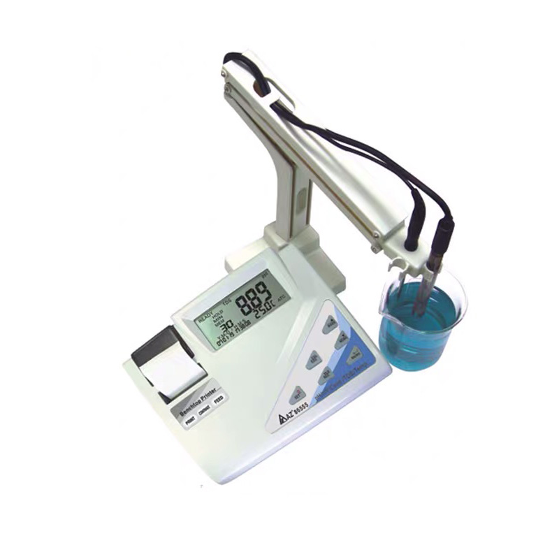 AZ86555 Water Quality Tester PH / MV or Conductivity / TDS / Salt With Temp Programmable Printing Bench Top