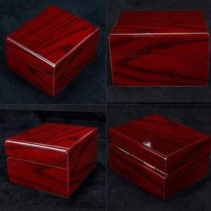 Image 4 - 4Pcs עץ שעון תיבת תצוגת מקרה אוסף, Vintage סגנון תכשיטי אחסון ארגונית לנשים גברים אדום