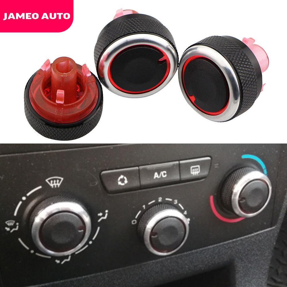 Jameo Auto Aluminum Alloy Air Conditioning Knob For Peugeot 307 CITROEN C4 C-TRIOMPHE AC Heat Control Switch Button Knobs