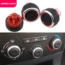 Jameo botão do ar condicionado, botão automático de liga de alumínio para peugeot 307 citroen c4 C-TRIOMPHE ac, controle de calor