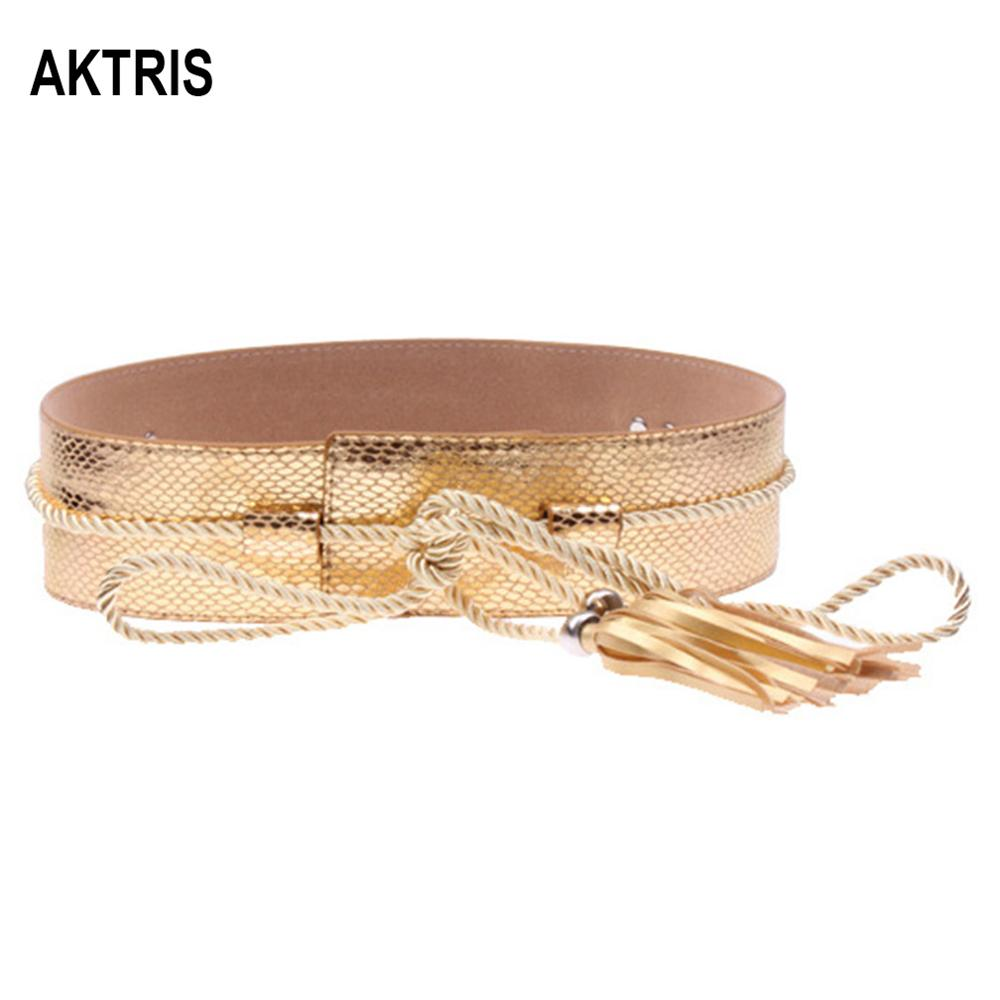 AKTRIS Ladies Decorative Wide PU Leather Belt Waistline Down Jackets Waistband For Women Novelty New Design 2019 FCO182