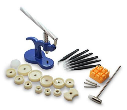 Watch Repair Tool 24 Pieces Watch Capping Machine Multi Purpose Tweezers Unloading Steel Belt Set Pressure Table Back Cover