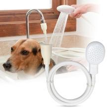 Pet Katzen Hund Bade Wasserhahn Wasser Sprayer Dusche Kopf Schlauch Kit Bad Spray-Tool Hund Pinsel Pet Liefert Großhandel
