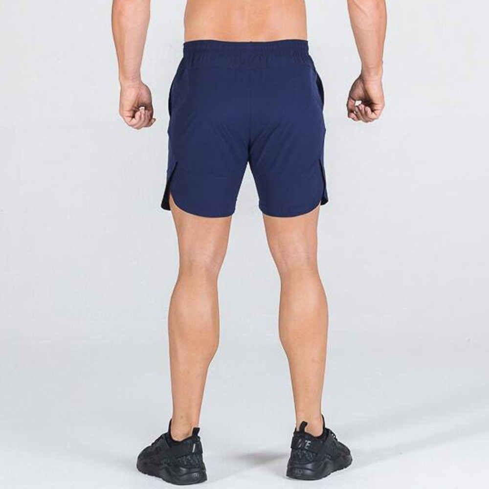 Spodenki sportowe do biegania męskie 2 w 1 dwuwarstwowe krótkie spodnie siłownia Jogging bermudy czarne spodnie letnie nowe męskie spodenki plażowe