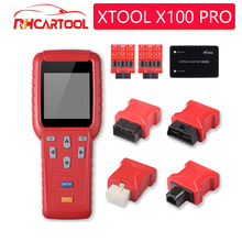 진단 도구 EEPROM 어댑터가있는 원본 XTOOL X100 Pro 자동 키 프로그래머 주행 거리계 주행 거리 조정 무료 업데이트 지원