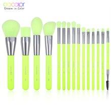 Docolor 15 adet Neon makyaj fırçalar aracı seti kozmetik pudra fondöten göz farı allık karıştırma güzellik makyaj fırça Maquiagem