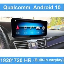 Qualcomm Android 10 4 + 64G Actualización de coche cabeza pantalla Autoradio estéreo pantalla para Mercedes Benz Wifi W212 s212 Clase E 2009 2016