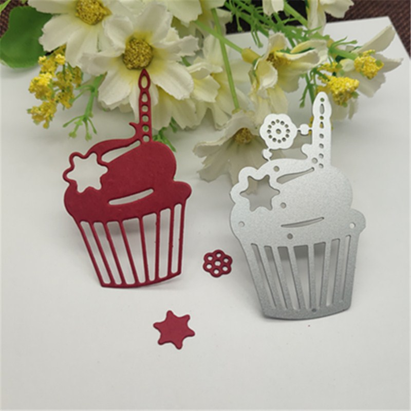Cake Candle Decoration Metal Cutting Dies Craft Stamps Die Cut Embossing Card Make Stencil Frame
