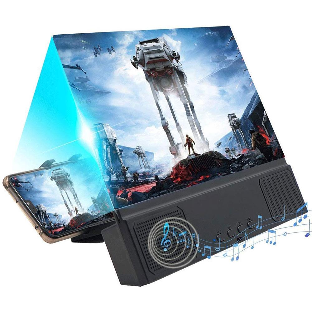 Lupa de pantalla 3D de 12 pulgadas con Altavoz Bluetooth amplificador de películas portátiles HD con soporte plegable compatible con todos los Smartphones Toalla de piel auténtica, piel de oveja natural, pantalla de limpieza de alta gama, absorbente de piel de oveja para coche