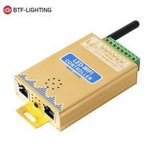 LED Wifi müzik denetleyicisi için Mic ile dijital piksel paneli ekran şerit ışık WS2812B adreslenebilir android APP kontrolü DC5 24V