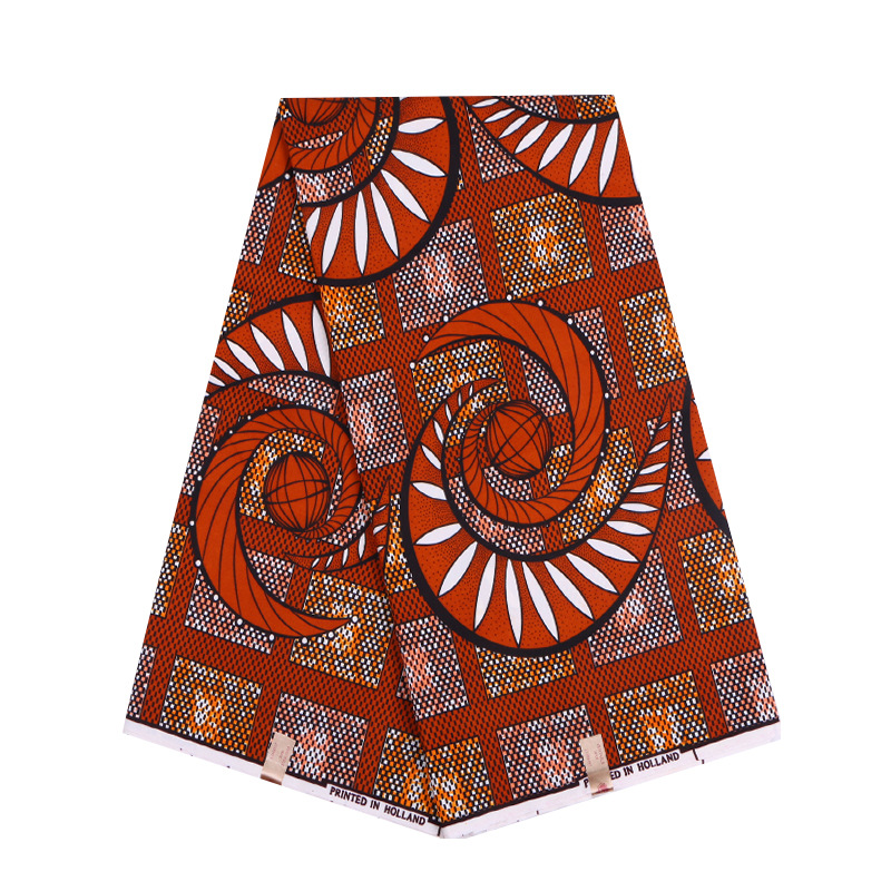 2019 African Dutch Wax New Fashion Design Fabric Brown Print African Pagnes Ankara Guaranteed Wax Printed Fabric