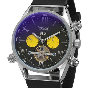 Новинка, мужские спортивные часы, автоматические механические наручные часы, Лидирующий бренд, Роскошные автоматические часы с турбийоном,...