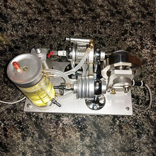 Self-circulation Water Cooled Engine STEM Hit & Miss Combustion Oil Modified Version Project DIY Model COD