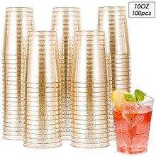 50/100 pièces tasse en plastique jetable fête de mariage hôtel événement vin Champagne verre conteneur