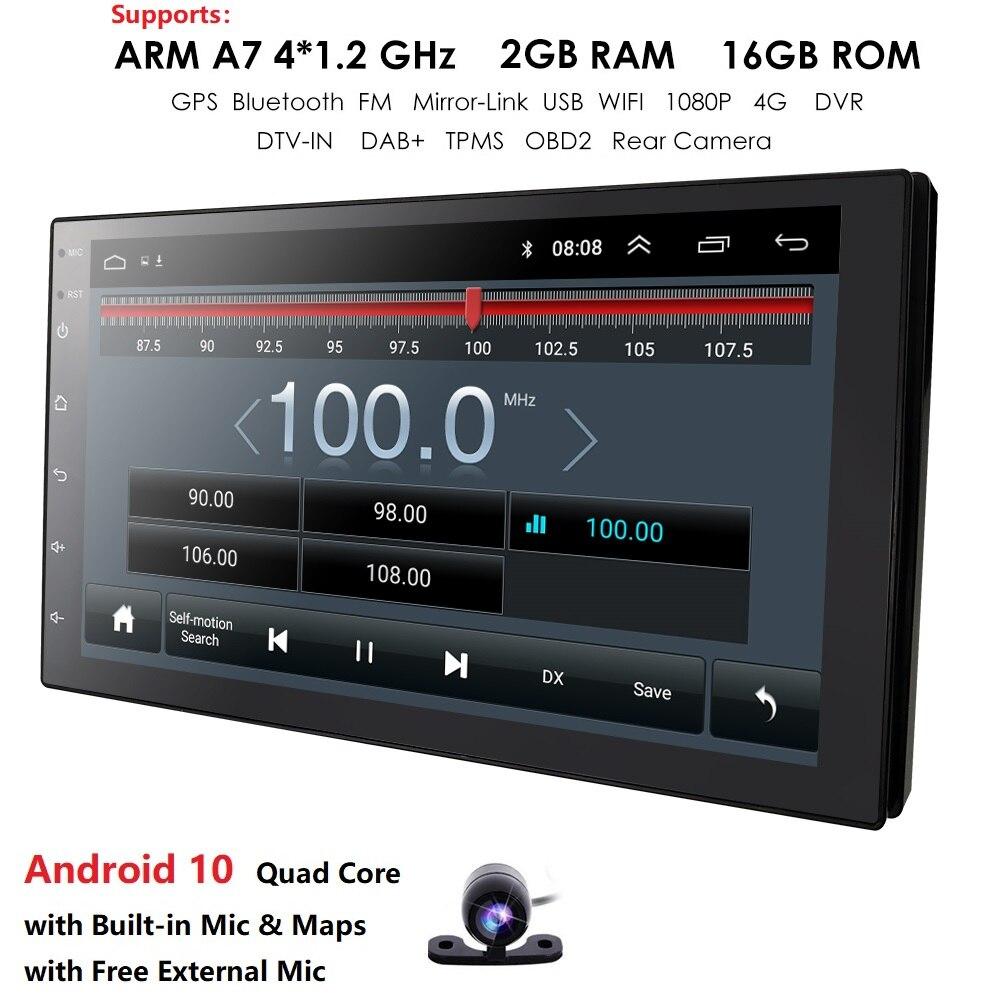 2 Din 7 ''Quad core Universal Android 8.1 1 GB RAM Auto Radio Stereo GPS Navigation WiFi 1024*600 touchscreen 2din Auto PC obd tupfen