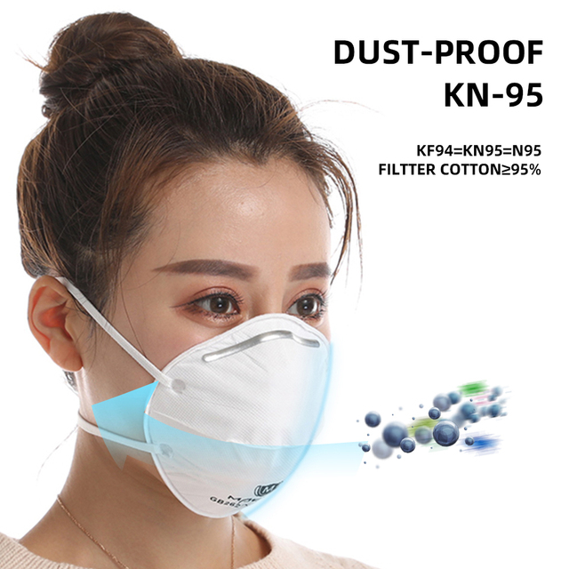 FDBRO Adjustable KN95 Cup Mask Anti Flu Face Mask PM2.5 dust-proof Outdoor Breathable Facial Nonwoven Mask