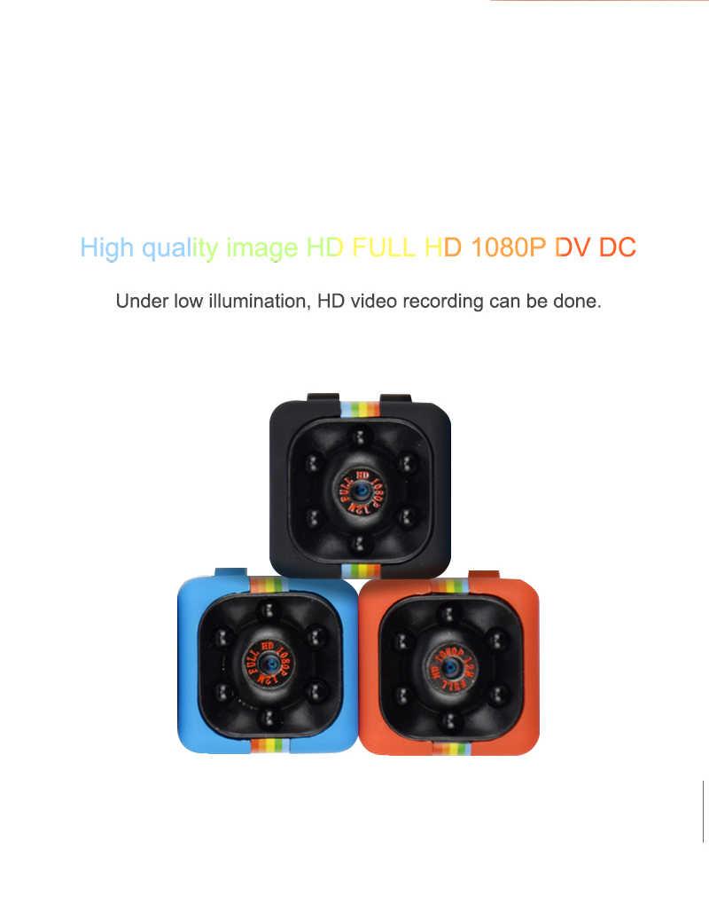 Мини-камера HD 1080p для домашней безопасности инфракрасная камера ночного видения SQ11 s Детский монитор Скрытая маленькая безопасная видеокамера