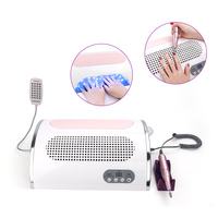 Deciniee 54W Nail LED UV Lamp Vacuum Cleaner Suction Dust Collector 25000RPM Drill Machine Pedicure Remover Polisher Tools