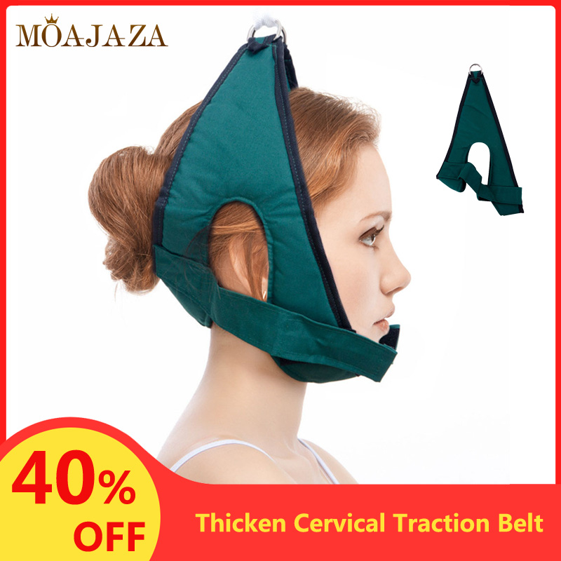 Hanging Cervical Traction Device Soft Neck Stretching Belt Pain Relief Metal Bracket Chiropractic Neck Traction Cushion Newest(China)