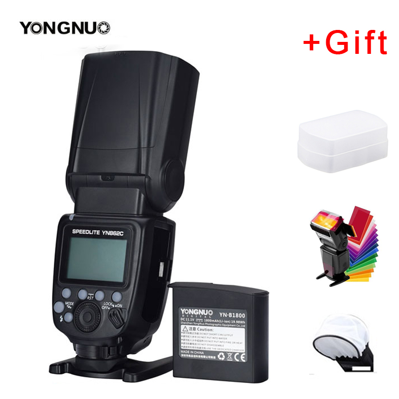 YONGNUO YN862C Speedlite Flash With 1800mAh Lithium Battery Supports High-speed Sync TTL For Canon 5D Mark III IV 80D 70D EOS R