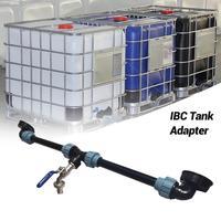 Adaptador de grifo de tanque IBC, grifo de rosca de tanque IBC de polietileno con 1 tubo y 2 conectores curvos, adaptador de drenaje