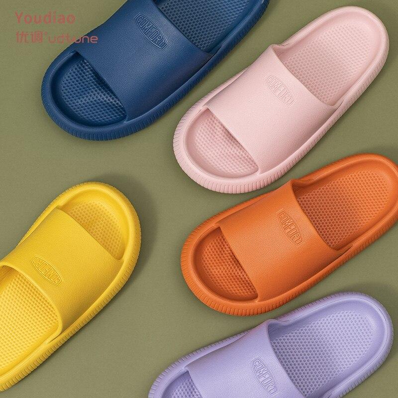 Youdiao EVA Hole Leaking Slippers Women Bathroom Shoes Slides Anti slip Summer Indoor Home Slippers Household Bath Sandals Men|Slippers| - AliExpress