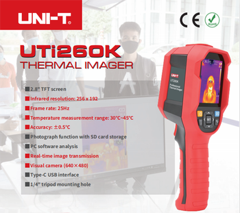 UNI-T UTi260K Hand-held Human Body Temperature Measurement Tool Infrared Thermal Imager,PC Software Analysis,Shipped on June 1. цена 2017