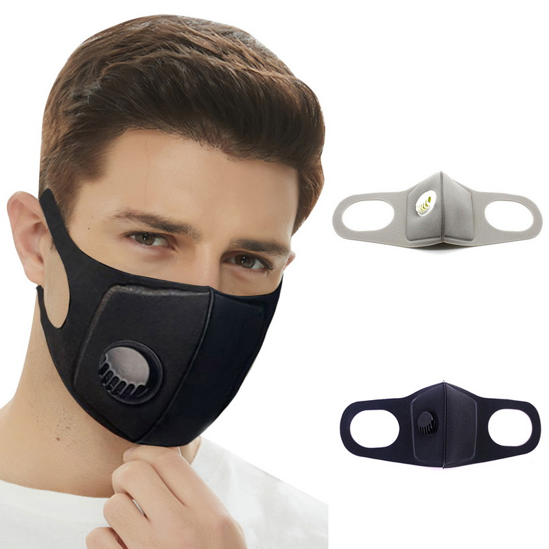 Anti Pollution PM2.5 Mouth Mask Dust Respirator Washable Reusable Masks Cotton Unisex Mouth Muffle for Allergy/ flu