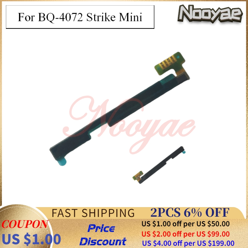 Top Power On Off Volume Up Down Switch Ribbon For BQ Mobile BQ-4072 Strike Mini Power Button Keypad Flex Cable