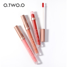 Liquid Lipstick Pigment Lip Gloss Makeup Velvet Matte O.TWO.O Nude Waterproof Red-Color