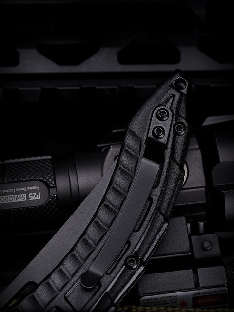 New Black Alien Keel Folding Blade Pocket CS Go Knife Hunting Camping Knives Military Self Defense Survival Tool For Man Women 5