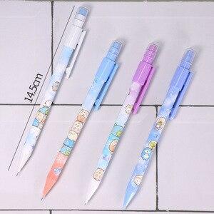 Image 5 - 40 adet/grup Sumikko Gurashi mekanik kurşun kalem sevimli 0.5mm otomatik kalem kırtasiye hediye okul ofis malzemeleri