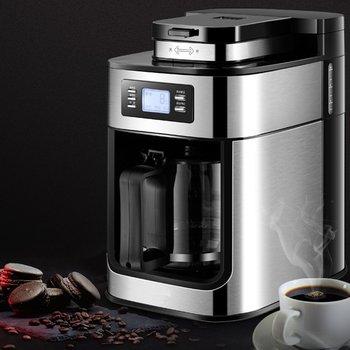 1000W Electric Coffee Maker Machine Fully-Automatic Drip Coffee Maker Tea Coffee Pot Barista Home Kitchen Appliance 1200ml 220V 2