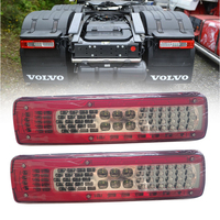 1Pair 24V Car LED Rear Taillight Tail Lights Warning Lamp for Volvo FM460 Truck Trailer Without Buzzer