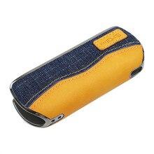Denim pression peau housses pour IQOS 3.0 dispositif Portable Anti chute housses de protection pour accessoires Ecig