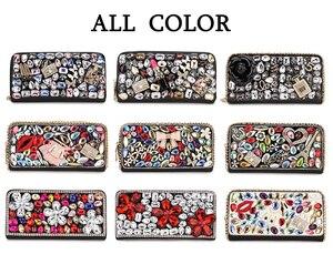 Image 2 - Hohe Qualität Luxus Diamant Blume Pu Leder Mode Geldbörse Karte Halter Lange Brieftaschen Frauen Clutch Tasche Geld Tasche Zipper tasche