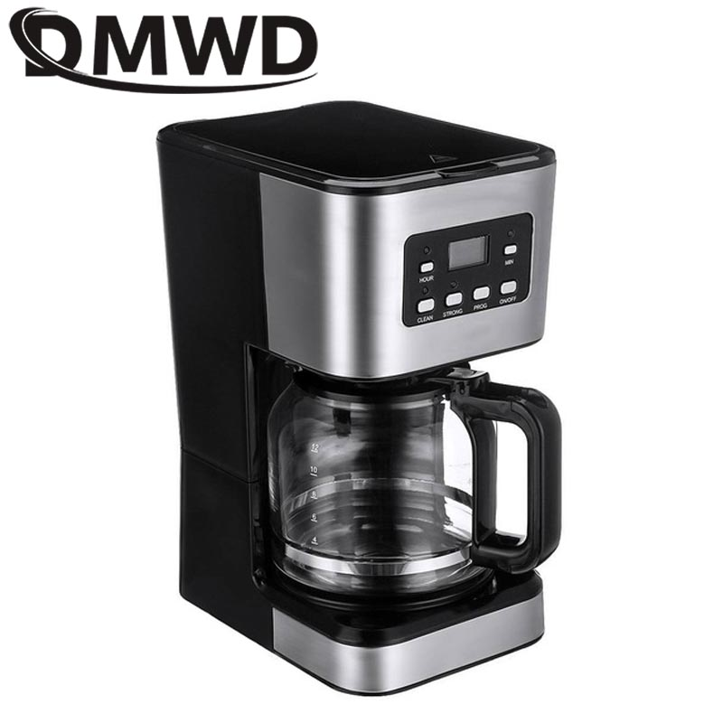DMWD 220 В Автоматическая электрическая кофеварка для латте, эспрессо, мини Мока, капельная кафе, американская кофе, Пивоваренная машина, чайни...