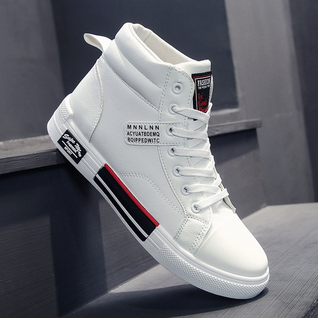 ADMAR High Top Shoes Men Fashion Breathable Casual Shoes Daily White Shoes Classic Wear Resitant gym shoes Men Hip Hop Sneakers 2