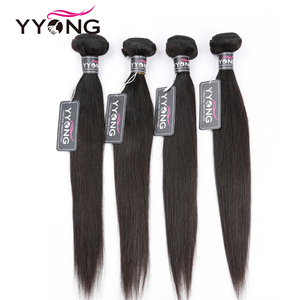 Image 3 - Yyong mechones de cabello lacio con cierre, pelo brasileño ondulado, 3 mechones, extensiones de cabello humano mechones Remy con cierre, extensión de cabello