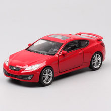 1:36 Scale mini Hyundai genesis coupe sport vehicles & diecast pull back Welly metal model car toy hobby of boys children gifts(China)