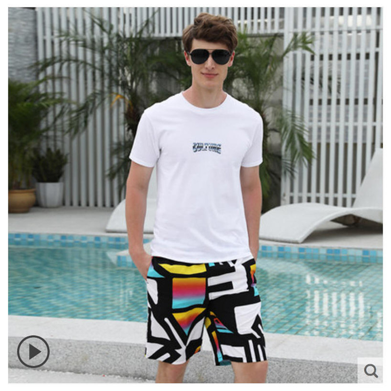 2020 Summer Sports And Leisure Loose Quick-drying Five-point Couple Beach Pants  881