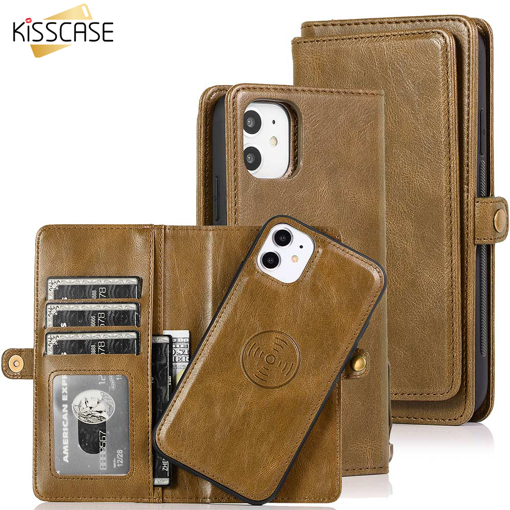 KISSCASE Leather Flip Case For Samsung S10 A51 A71 A50 Original Book Case For Samsung S20 S9 Funda S8 Note8 Note9 Note10 S10Plus