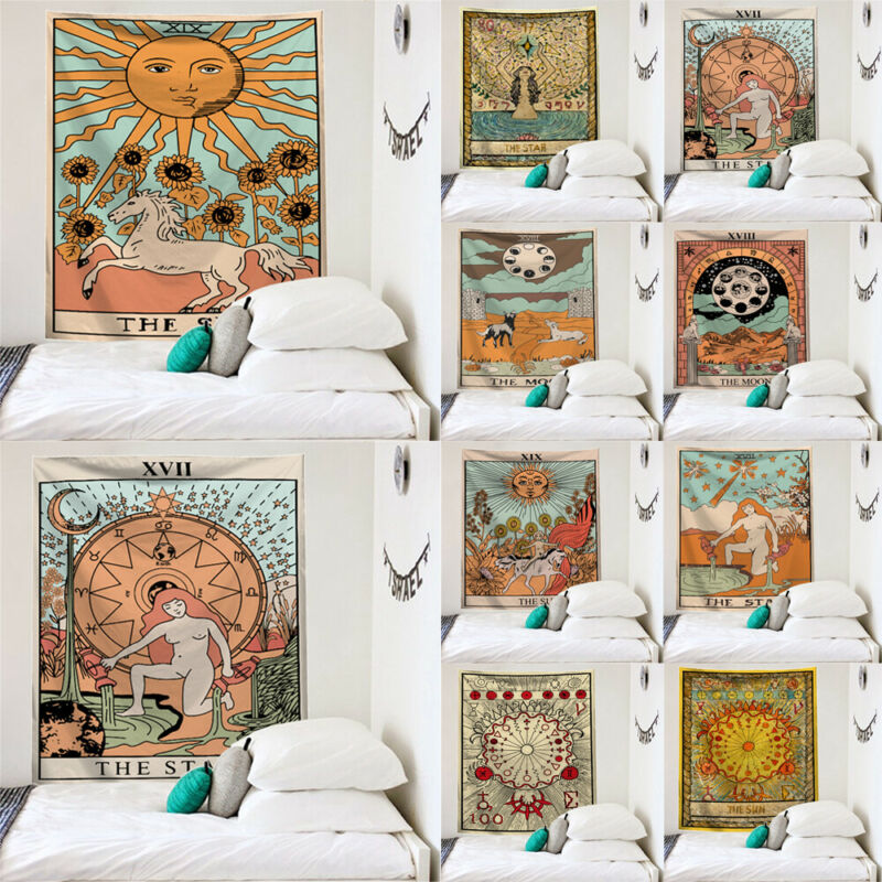 Fashion Tarot Tapestry Sun Divination Wall Hanging Mysterious Art Home Wall Decor Decoration